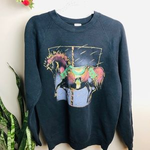 Vintage 80's/90's Carousel Horse Sweater